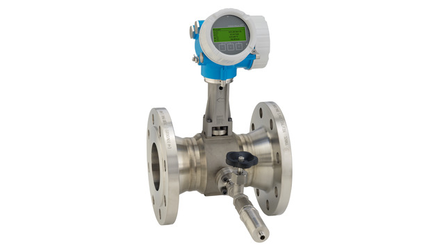 Prowirl F 200 with mounted pressure measuring unit for gases and liquids
