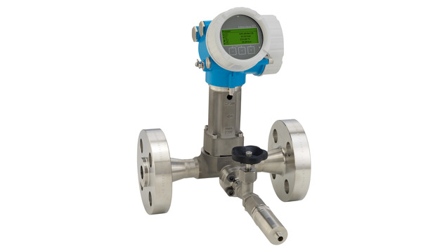 Prowirl O 200 with mounted pressure measuring unit for gases and liquids