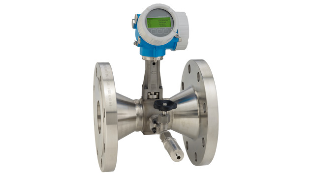 Prowirl R 200 with mounted pressure measuring unit for gases and liquids